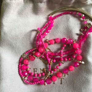 Kendra Scott Beaded Bracelet Set Pink and Gold